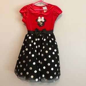 Disney 6 Red/Black Mini Mouse twirl dress